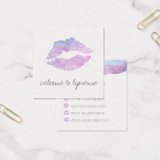 De lila kaarten van de Toepassing van de Waterverf Vierkante Visitekaartjes
