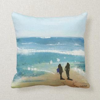 De l'océan avec le coussin d'amour