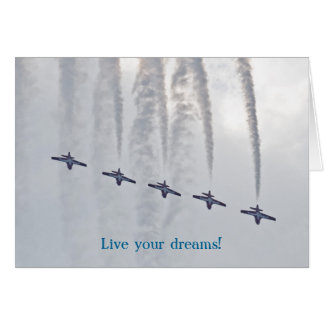 De lucht toont Levend uw dromen Kaart