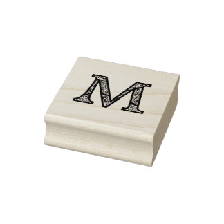 De M Geëtste Zegel van de Kunst van het Monogram Rubberstempel