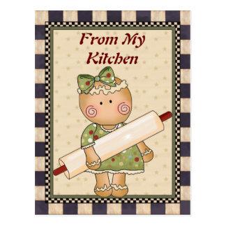 De ma carte postale de pain d'épice de cuisine