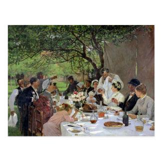 De maaltijd van het Huwelijk in Yport, 1886 Briefkaart