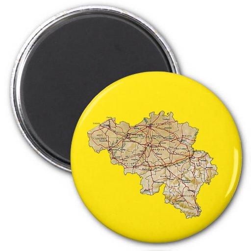 De Magneet van de Kaart van België