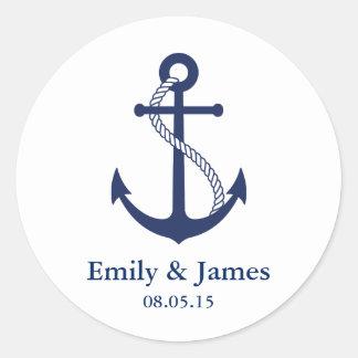 De marineblauwe Gunst van het Huwelijk van het Ronde Sticker