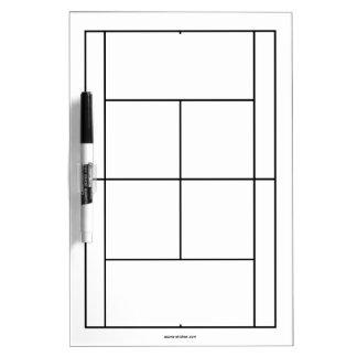 De materialen van de tennisbaan voor lessen | whiteboards