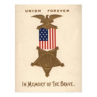 De Medaille Eagle van de Burgeroorlog van de Unie Briefkaart
