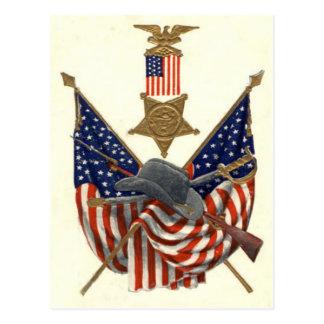 De Medaille Eagle van de Burgeroorlog van de Unie  Wenskaart