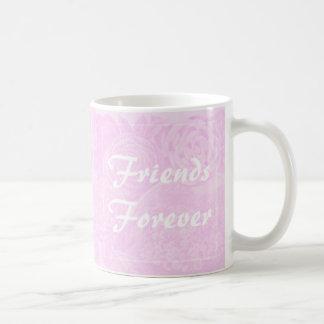 De meilleurs amis d'amis rose de rose de tasse de