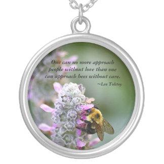De Mensen en de Bijen van de benadering Zilver Vergulden Ketting