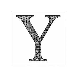 De middeleeuwse Brief Y van het Monogram van het Rubberstempel