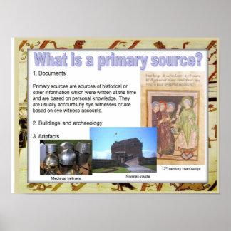 De middeleeuwse geschiedenis, wat is een primaire poster