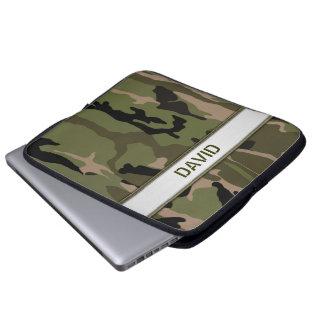 De militaire Groene Sjabloon van de Naam Camo Laptop Sleeve