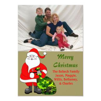 De militaire Kaart van de Foto van Kerstmis van de 12,7x17,8 Uitnodiging Kaart
