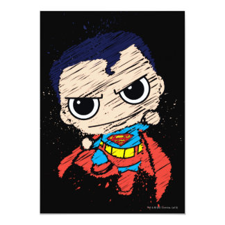 De mini Schets die van de Superman - vliegen Kaart