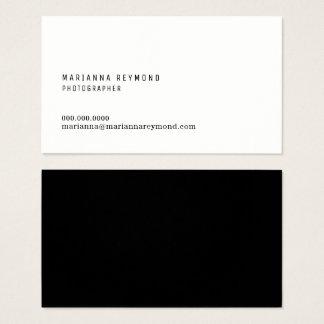 de minimale moderne fotograaf van het visitekaartjes