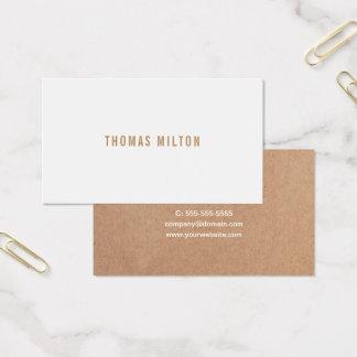 De minimalistische Gedrukte Witte Adviseur van Visitekaartjes