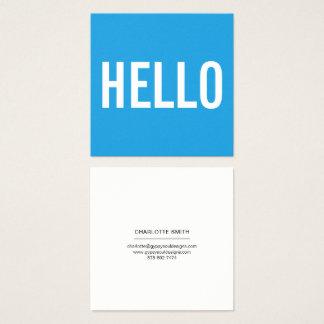De minimalistische Visitekaartjes van Hello