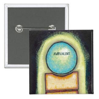 De moderne blauwe cirkel die van de kunstpret uw vierkante button 5,1 cm