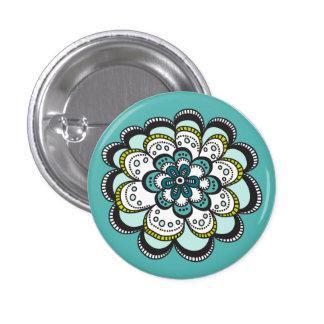 De moderne bloem van de Zaligheid buttonn