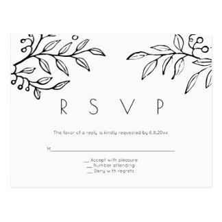 De moderne briefkaarten van het takhuwelijk rsvp