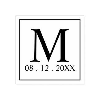 De moderne Gunst van het Huwelijk van het Monogram Rubberstempel