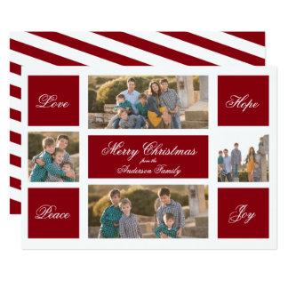 De moderne Kaart van de Foto van Kerstmis van de 12,7x17,8 Uitnodiging Kaart