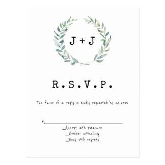 De moderne kaarten van het kroonhuwelijk RSVP