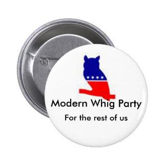 De moderne knoop van de Partij Whig Buttons
