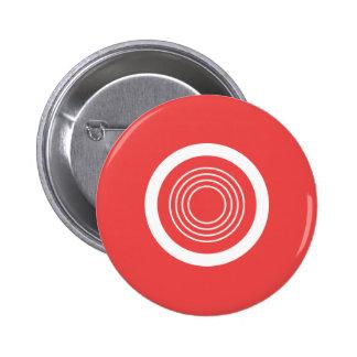 De moderne knoop van het stippatroon ronde button 5,7 cm