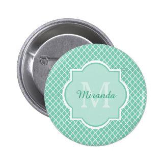 De moderne Munt van het Monogram en Witte Ronde Button 5,7 Cm