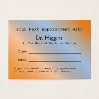 De moderne Oranje Medische TandKaart van de Visitekaartjes