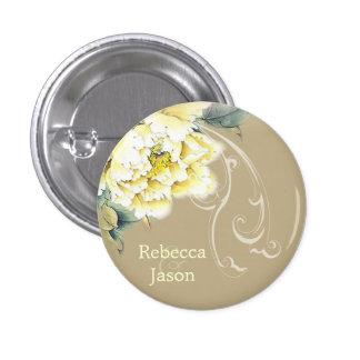 de moderne vintage bloemengunst van het ronde button 3,2 cm