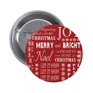 de moderne vintage woorden van Kerstmis Speldjes
