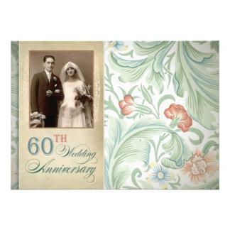 de mooie 60ste foto van de huwelijksverjaardag nod persoonlijke  aankondiging