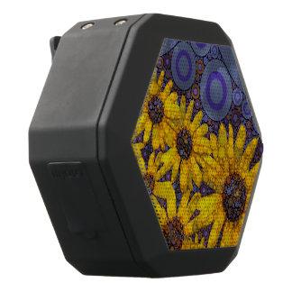 De mooie Blauwe Gele Samenvatting van Zonnebloemen Zwarte Bluetooth Speaker