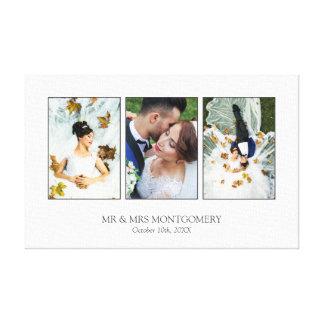 De mooie Collage van de Foto van het Huwelijk Canvas Afdrukken