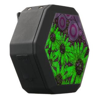 De mooie Fluorescente Zonnebloemen van de Lavendel Zwarte Bluetooth Speaker