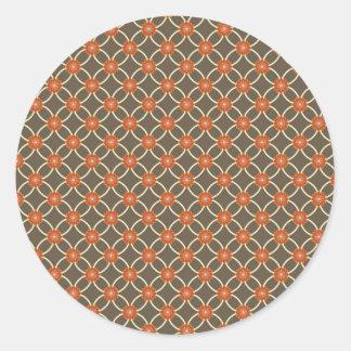 De mooie Gebrande Oranje en Bruine Giften van het Ronde Stickers