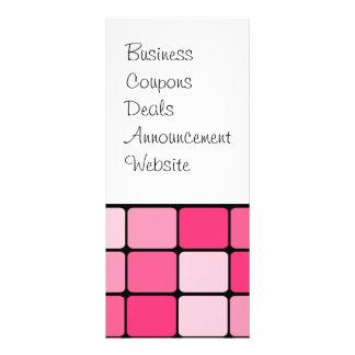 De mooie Roze Giften van het Patroon van de Tegel Reclamekaart
