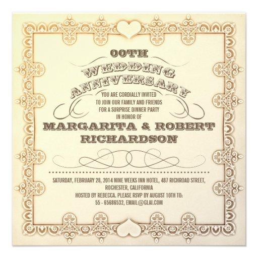 de mooie typografische huwelijksverjaardag nodigt  persoonlijke aankondigingen