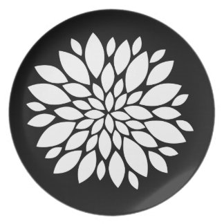 De mooie Witte Kunst van de Bloemblaadjes van de B Bord