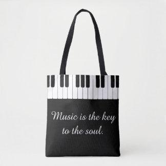 De muziek is de Sleutel aan het Bolsa van de Piano Draagtas