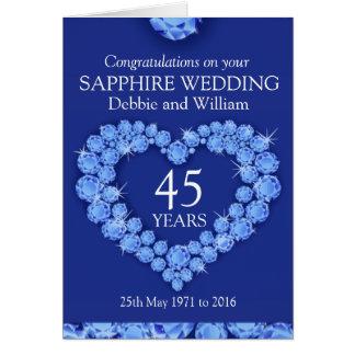 De naam van de het huwelijksverjaardag van de saff wenskaart