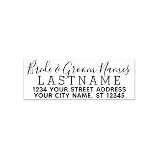 De Naam van het Huwelijk van de Bruidegom van de Zelfinktende Stempel