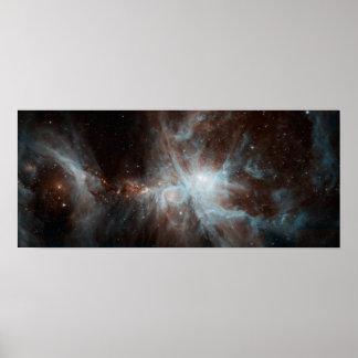 De nevel Orion: Waar de Sterren Geboren zijn Poster