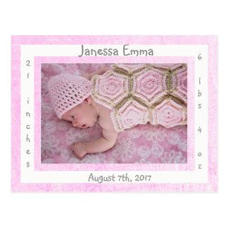 De nieuwe Aankondigingen van de Geboorte van de Briefkaart