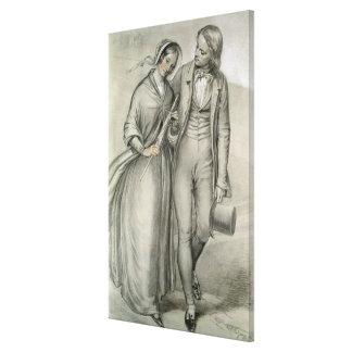 De ochtend van het Huwelijk - het vertrek, c.1846 Canvas Afdruk