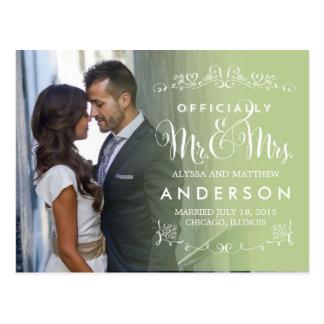 De officiële Aankondigingen van het Huwelijk van Briefkaart