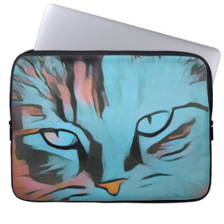 De ogenlaptop van katten sleeves
