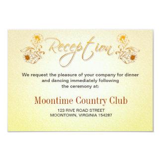 de ontvangstontwerp van de huwelijksverjaardag 8,9x12,7 uitnodiging kaart